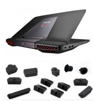 Laptop Silicone plug port cover For ASUS G751 G751JY G751JL