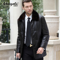 Genuine leather male medium-long down coat leather clothing mink sheepskin overcoat plus size leather jacket fur coat