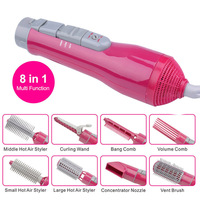 Professional Styling Tools Electric Hair Curler Dryer Roller 8 In 1 Multi Function Hairdryer Set Brush