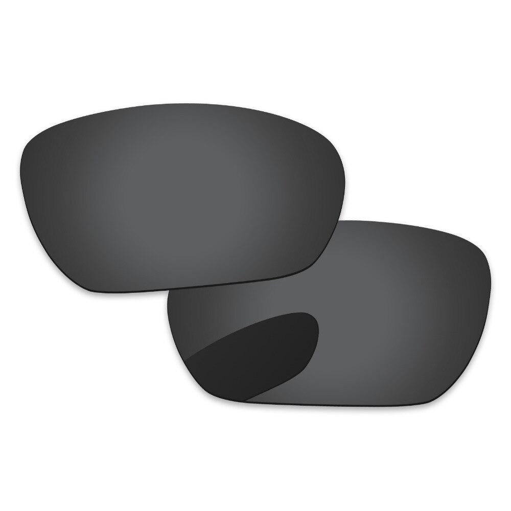 Schwarz Grau Polarisierte Ersatz Linsen Für Insasse Sonnenbrille Rahmen 100% UVA & UVB Schutz