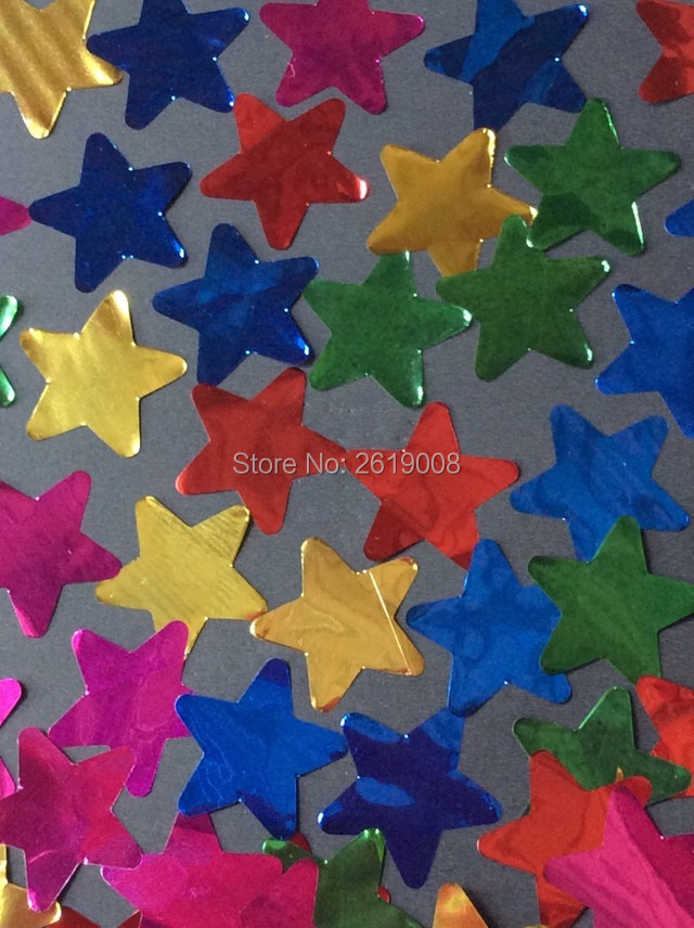 5KG/Bag Colourful confetti paper foil star accessories, for Confetti cannon machine for Stage Wedding Party Decoration все цены