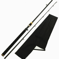 2.18m casting fishing rod long handle with ruler 50cm H power fast action lure 15 30g carbon lure fishing rod weight 190g|Fishing Rods| |  -