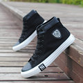 Spring and autumn canvas shoes male high fashion casual shoes spring black teenage boys attached the skates