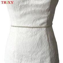 TRiXY A217 New Fashion Thin Wedding Belts Rhinestone Wedding Sash Bridal  Belt Thin Bridal Belt Wedding 60df46b20e04