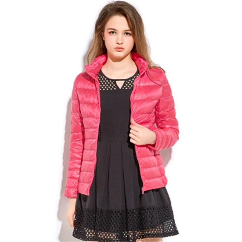 Winter Big size women   down     coats   jackets warm Female   down   parkas Winter Women's   Down   Jacket winter Casual Thin   down     coat   J763