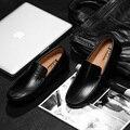 Новый Бренд Ручной мужская мода Кожа Квартиры Обувь мужчины вождение обувь повседневная наборы обуви Удобные и мягкие Zapatos hombres