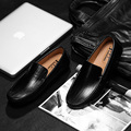 Nueva Marca de los hombres Hechos A Mano de Cuero de moda Zapatos de Los Planos de los hombres zapatos de conducción ocasionales conjuntos de Zapatos zapato Cómodo y suave hombres