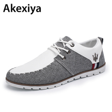 2017  Breathable Hemp Lightweight Shoes Men Comfort Lace up Flats For Man AA34