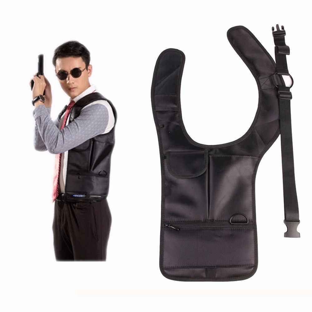 Тактический Невидимый Подмышечный мешок агенты тактический рюкзак Противоугонный скрытый личный кошелек черный Молл Сумка левый и правый доступны
