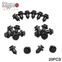 20pcs Nylon Plastic Car Front Rear Bumper AUTO Rivet Black Fastener Bumper Clip Push Retainer Screw Fender FOR Honda(China)