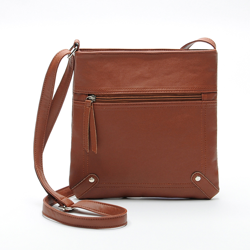 Women Cross Body Bags 2018 New Shoulderbag Men  Messenger Bag Handbag PU Leather Solid Color Satchel 4 Color 0