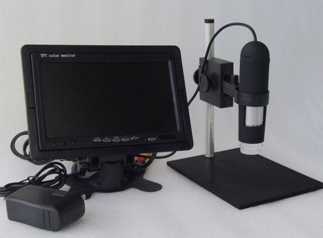 Monitor included HD 1200X AV handheld endoscope High Resolution Electron Microscope 8-LED Applicable AV Port Monitors LCD TV телеприставка other av hd