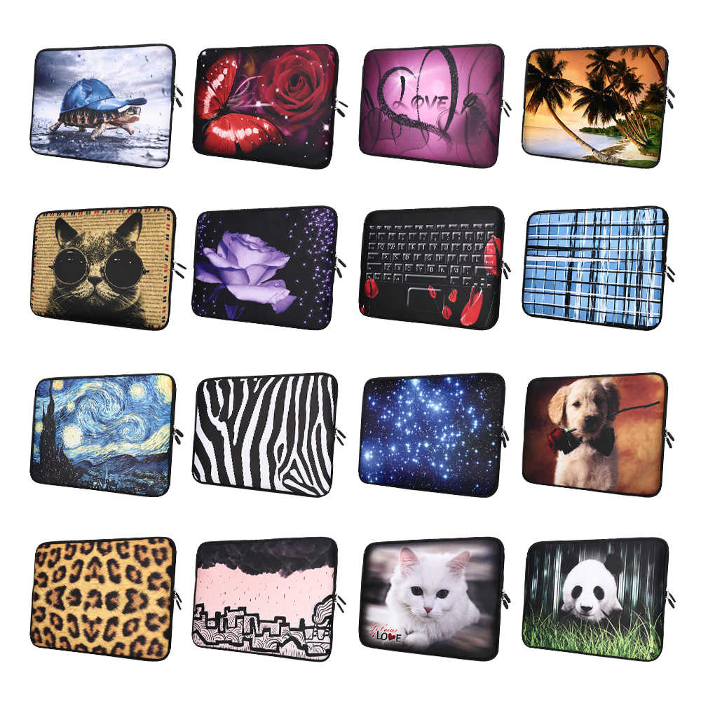 Fashion Design Laptop Tas Soft Notebook Sleeve Case Cover Voor HP Lenovo Acer Dell MacBook Air Pro 13 14 15 17