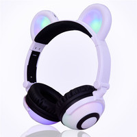 CARPRIE Earphones Kids Headphones With Cat Ear LED On Ear Foldable Headset For Kids Earphone td0627 Dropship