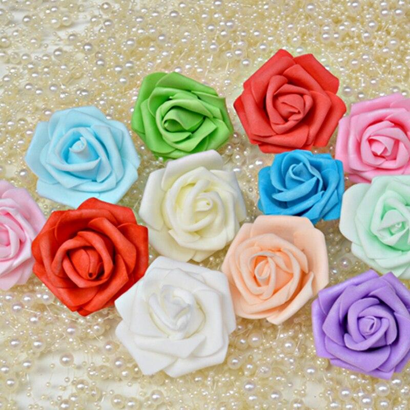 Мода 50-100 шт. пены поддельные розы Глава искусственного Свадебная вечеринка домашнего декора комнаты ручной работы коробка конфет украшен