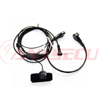 HK-T5428 baofeng radio earpiece wired PTT Air Tube Big Round Throat Earphone for TYT MD-380