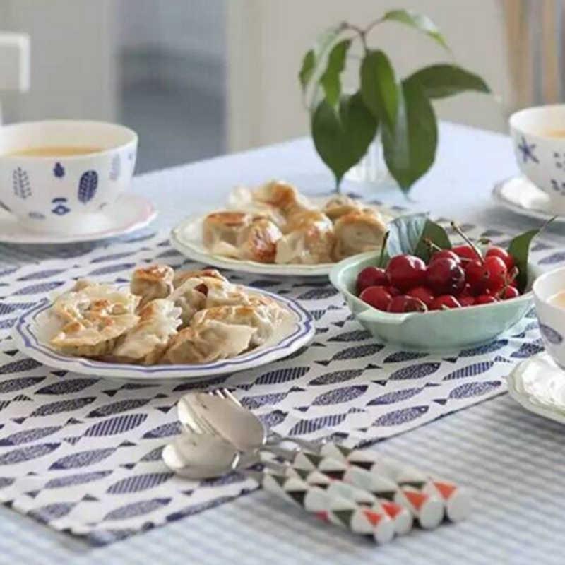 Serviettes de cuisine Table à manger serviettes poisson bleu clair poisson méditerranéen impression tissu Restaurant serviettes pour mariage
