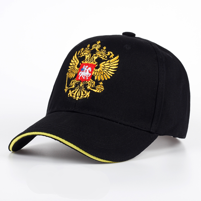New Unisex 100% Cotton Outdoor Baseball Cap Russian Emblem Embroidery Snapback Fashion Sports Hats For Men & Women Patriot Cap fashion sports baseball cap men
