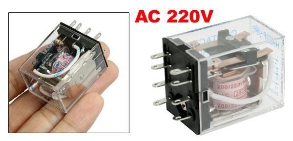 HH52P AC 200//220V Coil 8 Pin General Power Relay DPDT 5A 240VAC 28VDC Wtrsa
