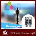Noite Senhor 2 pçs/lote! Flash RGB LEVOU T10 194 w5w LED Largura Lâmpada T10 w5w LEVOU Sete Gerações Final de 18 Tipos de Padrões