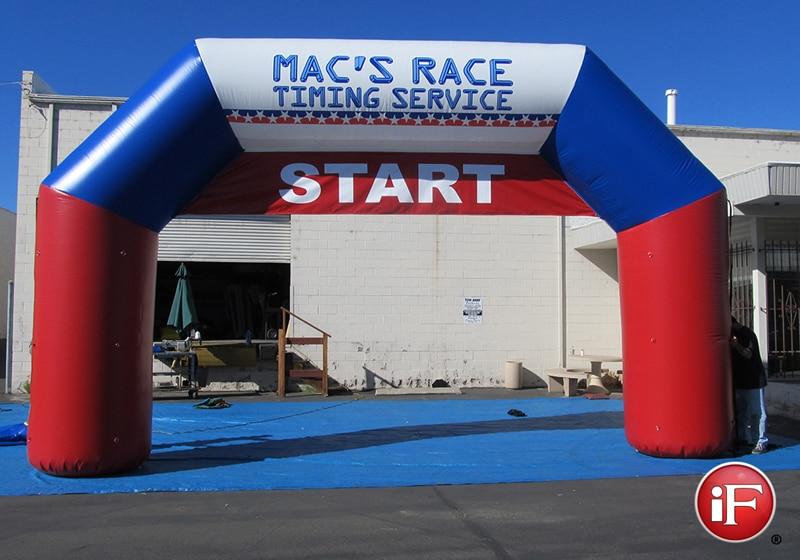 Arc de départ gonflable Grand angle 7.5 mW avec arche gonflable de bannière pour la compétition de course en cours d'exécution