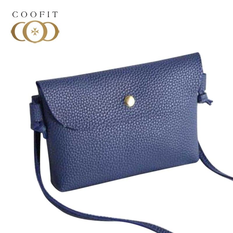 Coofit Mini Phone Bag Women's Shell Shoulder Bag Crossbody Bag With Magnetic Snap PU Leather Flap Clutch Purse bolsa feminina