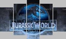 New Arrivlas Jurassic World Chris Pratt Dinosaur Science Fiction Movie Livingroom Canvas Paintings Poster cuadros decoracion