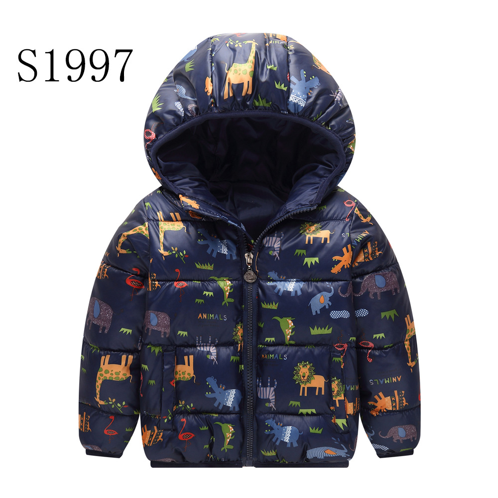 New 2017 Children Down Parkas Character Animal Winter Kids Outerwear Coat Boys Casual Warm Hooded Jacket For Boys  2-8 Years children winter coats jacket baby boys warm outerwear thickening outdoors kids snow proof coat parkas cotton padded clothes