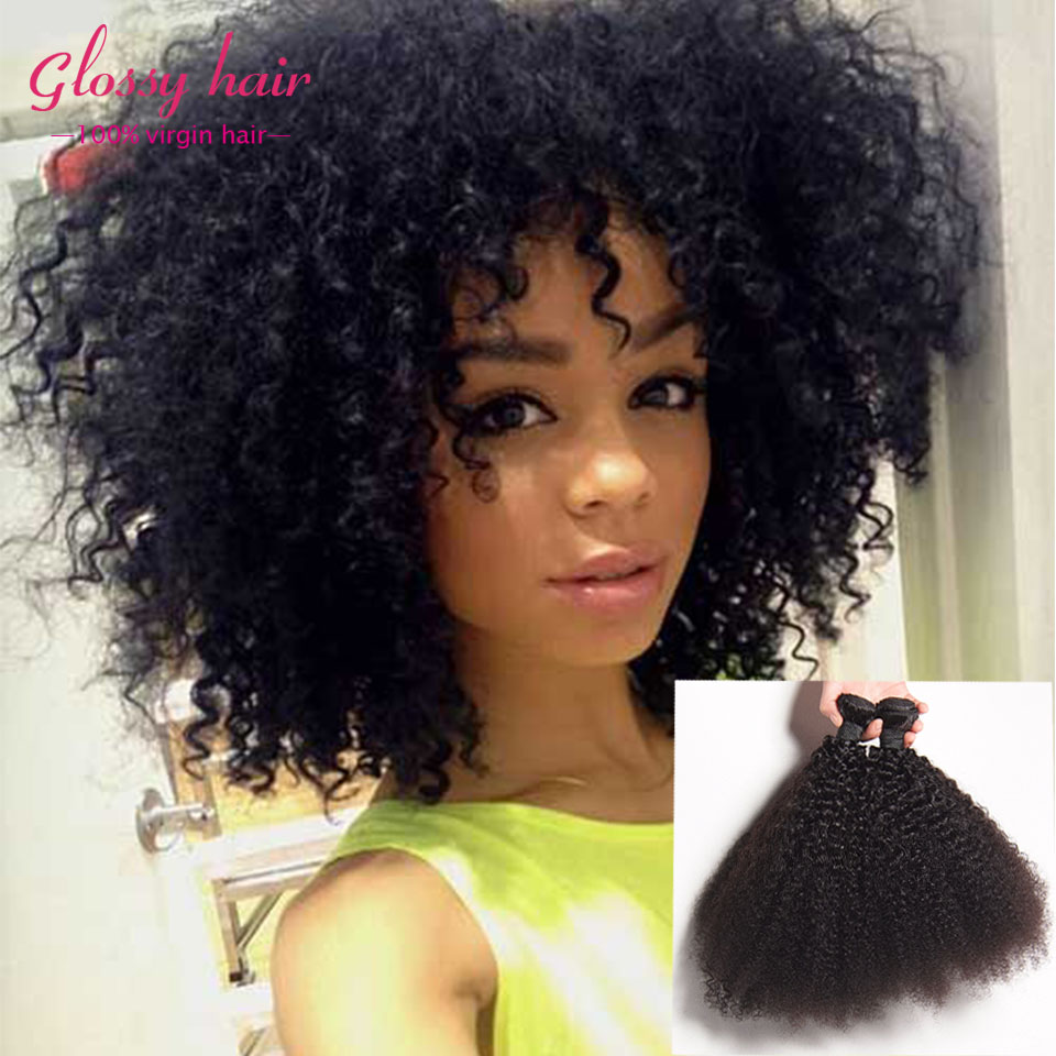 Unice Hair Kinky Curly Virgin Hair Curly Weave Human Hair