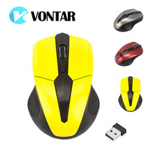 VONTAR NEWEST Wireless Mouse 2.4GHz USB Optical Computer Gamer Mice 4 Buttons Gaming Mause For PC Laptop Desktop 1600 DPI