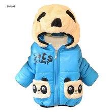 CNJiaYun Bébé Filles Garçons Veste D'hiver Chaud Épais Coton Panda de Bande Dessinée à capuche Enfants Manteau Enfants Belle Survêtement enfants Vêtements