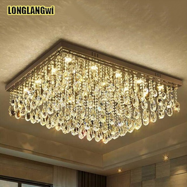 Modern Large Led Crystal Ceiling Lights For Living Room Luminaria