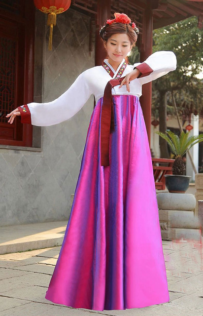 2016 New Korean Hanbok Formal Dresses Asia Traditional Clothes