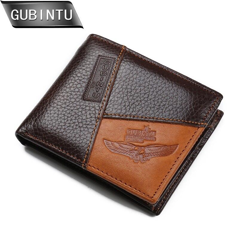 GUBINTU Multifunction Wallets 100% Genuine Leather Wallet Fashion Men Brand Designer Credit Card Holder With Coin Pocket Purse