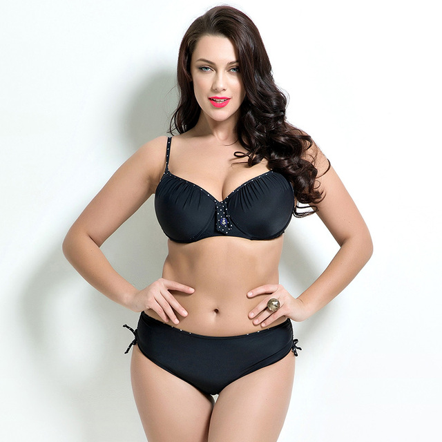 8ce1a1e3105 New Plus Size Swimwear Women Sexy Push Up Bikini Bathing Suit Swimsuit  Retro Vintage Bikinis Swimwear maillot de bain
