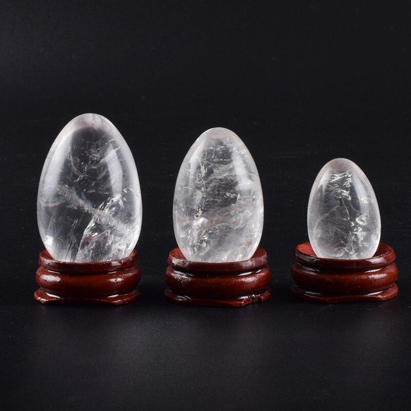Crystal Eggs Natural Stone Rock Quartz Yoni Egg Undrilled Ball Set Pelvic Floor Muscle Vagina Health Care Massage Kegel Exercise