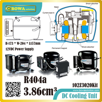 R404a DC refrigeration compressor must be mounted in a dry and clean place and be especially quiet in operation