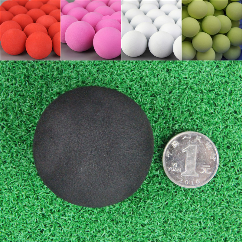 20Pcs 50mm Golf Practice Balls EVA Foam Soft Monochrome Balls For Outdoor Golf Ball For Golf Training Solid Color
