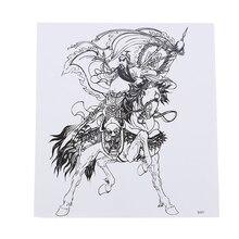 Лошадь водонепроницаемые наклейки татуировки холодные и пот стойкие прочные воины эфирные Горячие тату Цветок на руку татуировки наклейки