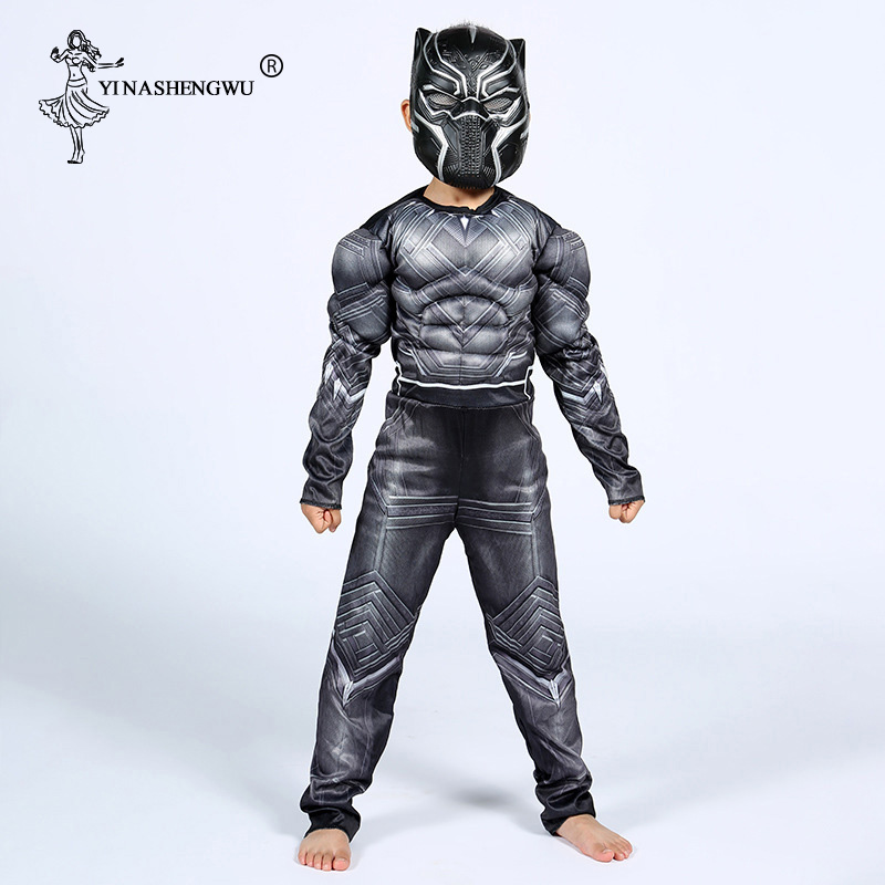 Avengers Hero Black Panther Costume Cosplay Costume Anime Halloween Carnival Masquerade Birthday Party Costume Gift For Children