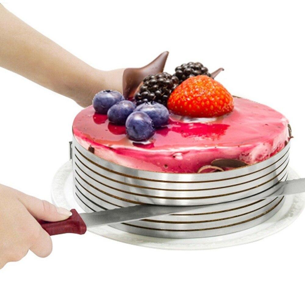 15-20 см регулируемый нож для нарезки торта Форма для вырубки торт кольцевые инструменты торт резак круглый Форма хлеб нож для нарезки торта Р...