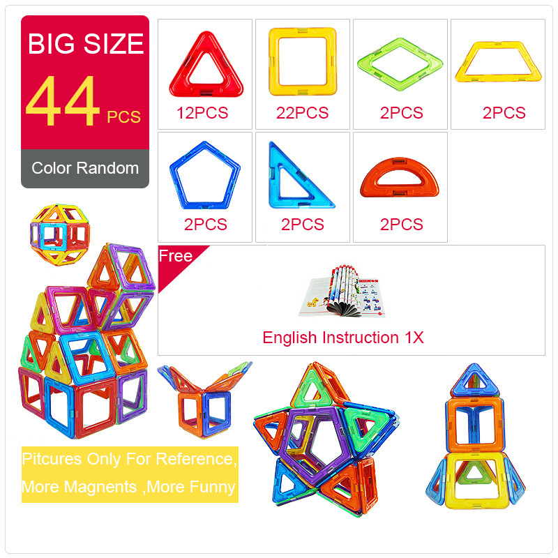KACUU Magnetic Building Blocks DIY Building Toys For Kids Gift Accessories Constructor Designer Magnent Model Educational toys dayan gem vi cube speed puzzle magic cubes educational game toys gift for children kids grownups