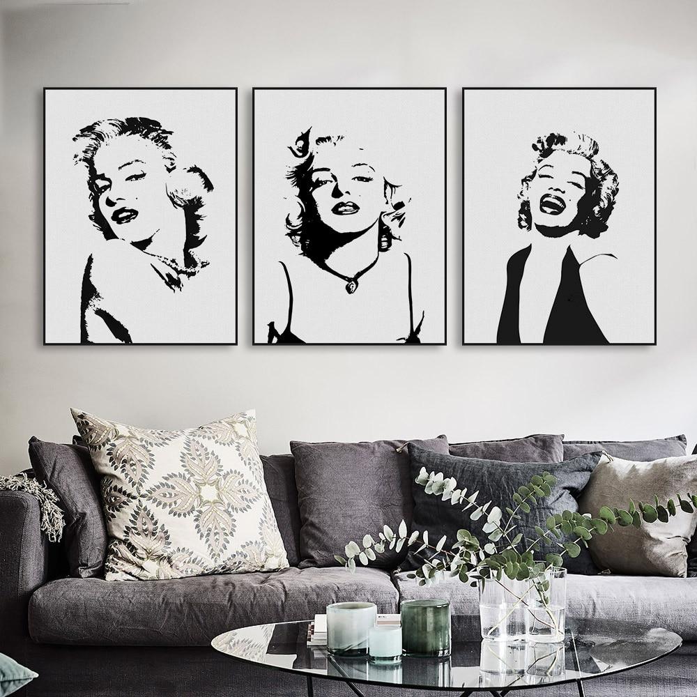 Marilyn Monroe Filmstar Original Aquarell Kunstdruck Poster Große - Wohnkultur - Foto 2