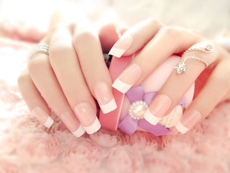 24 Pcs Nail Art Tips Romantic New S Bride Pre Designed French Abs False Half With Glue In Nails From Beauty Health On