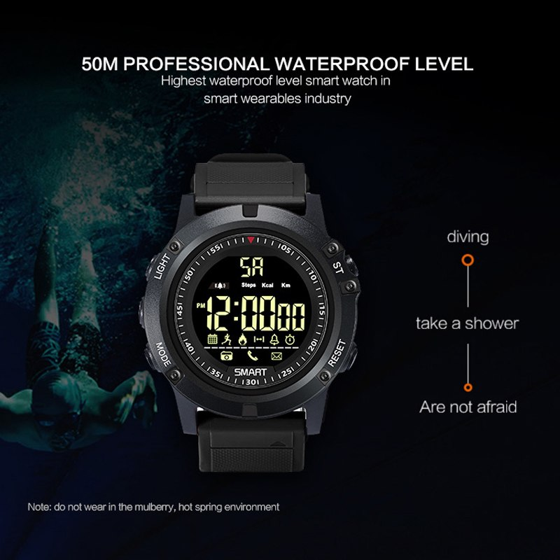 SENBONO Fitness Tracker Digital deportes Bluetooth espera largo Smart reloj Pedometer llamada mensaje recordatorio Smartwatch hombres niños