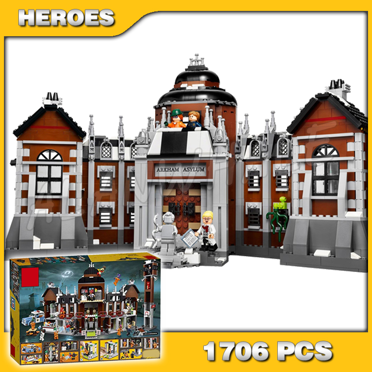 1706pcs Super Heroes Batman Movie Arkham Asylum Madhouse 10741 Model Building Blocks Assemble Toys Bricks Compatible with Lego image