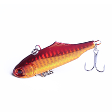 1PCS 7.5cm 24g winter VIB fishing lure hard bait with lead inside ice sea fishing tackle diving swivel jig wobbler lure