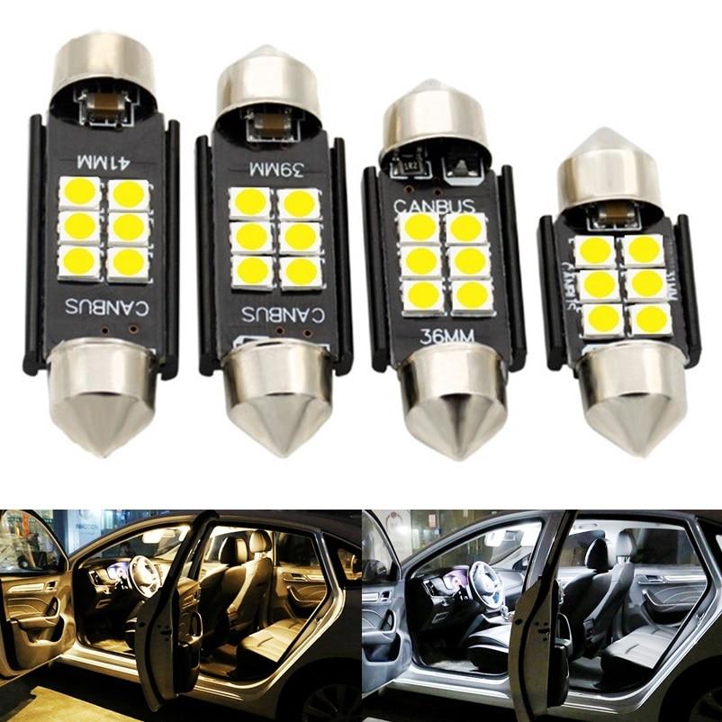 4PCS Festoon 31mm 36mm 39mm 41mm Super Bright 3030 LED Car Dome Light C3W C5W C10W Auto Interior Reading Lamp Licence Plate Bulb