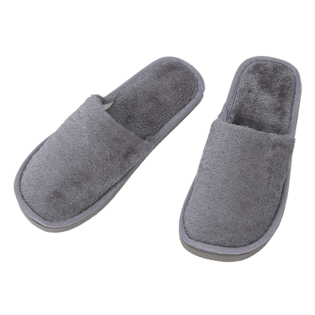 DCOS Men Gray Fleeces House Soft Winter Warm Slippers UK 8.5 for Feet Length 27 cm new arrival background fundo house door with flowers 7 feet length with 5 feet width backgrounds lk 2684