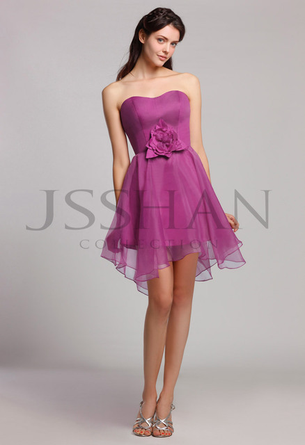 12B022 Strapless Flower A-Line Organza Junoesque Elegant Gorgeous Luxury Party Bridesmaid Dress